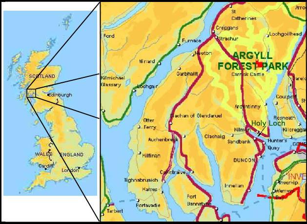 Holy Loch Scotland Map.Tender Tale Sub Bases Holy Loch Scotland